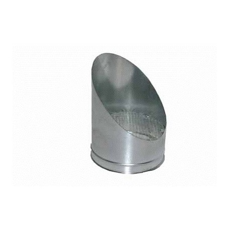 Terminale a becco tondo - acciaio inox - monoparete
