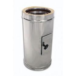 Tubo ispezione acciaio inox doppia parete - Lunghezza 500mm