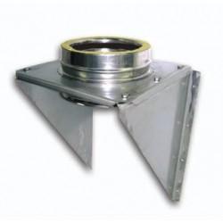 supporto partenza canne fumarie acciaio inox doppia parete - Lunghezza 500mm
