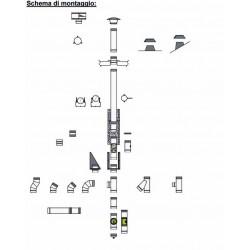 Kit montaggio canna fumaria monoparete 7 metri