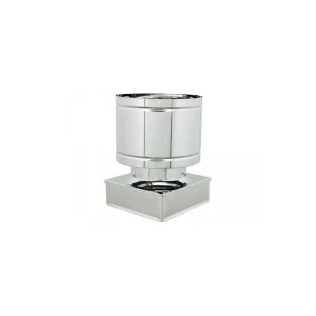 Terminale botto quadro - inox monoparete