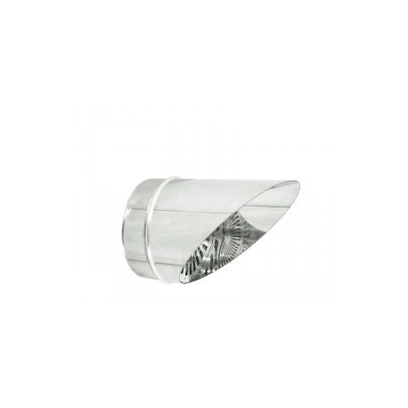 Terminale a becco con griglia - canna fumaria inox - monoparete