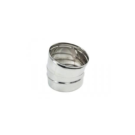 Curva 15° inox monoparete 316L
