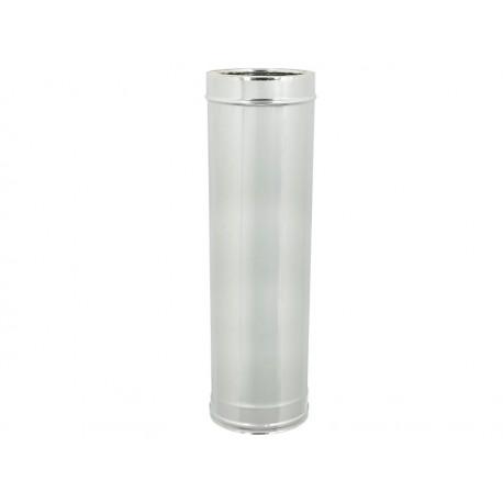 Tubo acciaio inox doppia parete - Lunghezza 1000mm