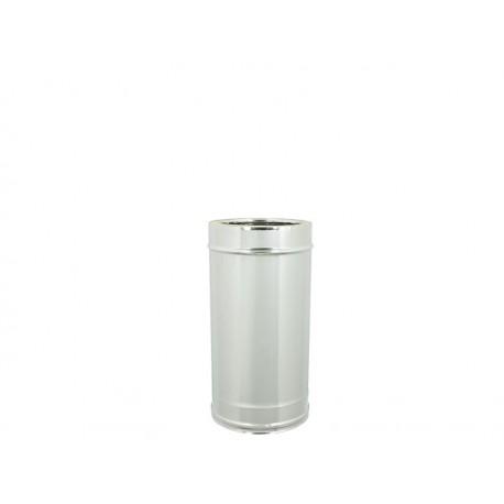 Tubo acciaio inox doppia parete - Lunghezza 500mm