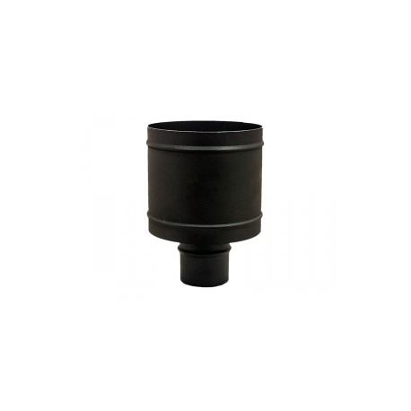 Terminale comignolo antivento per stufe a pellet inox verniciato nero monoparete