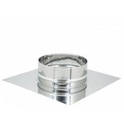 Base forata innesto M acciaio Inox Monoparete