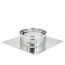 Base forata innesto F acciaio Inox Monoparete